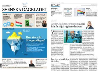 Svenska Dagbladet – 18 augusti 2018