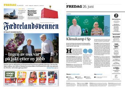Fædrelandsvennen – 26. juni 2020