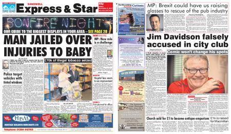 Express and Star Sandwell Edition – November 03, 2017