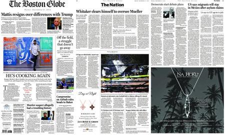 The Boston Globe – December 21, 2018