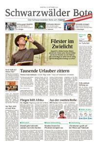 Schwarzwälder Bote St. Georgen, Triberg, Furtwangen - 24. September 2019