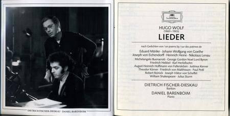 Hugo Wolf - Lieder (Daniel Barenboim & Dietrich Fischer-Dieskau) (1995) (6CD Box Set) {Deutsche Grammophon}