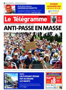 Le Télégramme Quimper – 15 août 2021