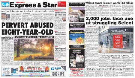 Express and Star Sandwell Edition – March 28, 2018