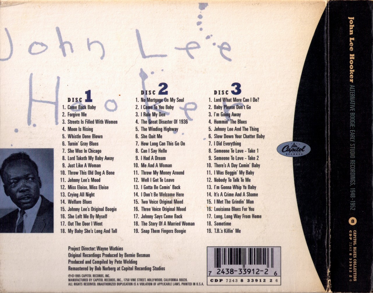 John Lee Hooker - Alternative Boogie: Early Studio Recordings 1948-1952 (1995) {3CD Box Set}