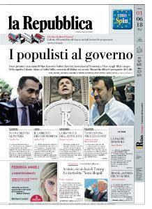 la Repubblica - 1 Giugno 2018