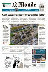 Le Monde du Vendredi 19 Avril 2019