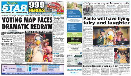 Shropshire Star Shrewsbury Edition – September 11, 2018