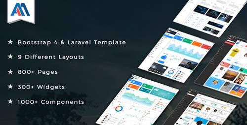 ThemeForest - Admire v2.1 - Bootstrap 4 Admin + Laravel Template - 18841413