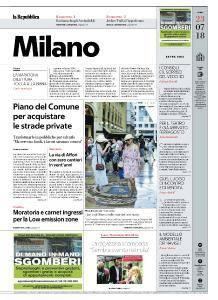 la Repubblica Milano - 23 Luglio 2018