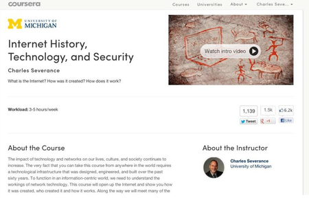 Coursera - Internet History, Technology, and Security by Charles Severance