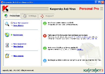 Kaspersky Anti-Virus Personal Pro ver. 5.0.676