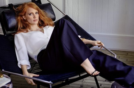 Jessica Chastain by Giampaolo Sgura for InStyle US January 2015