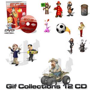 300.000 Animated Gif Collections CD 1 - 9