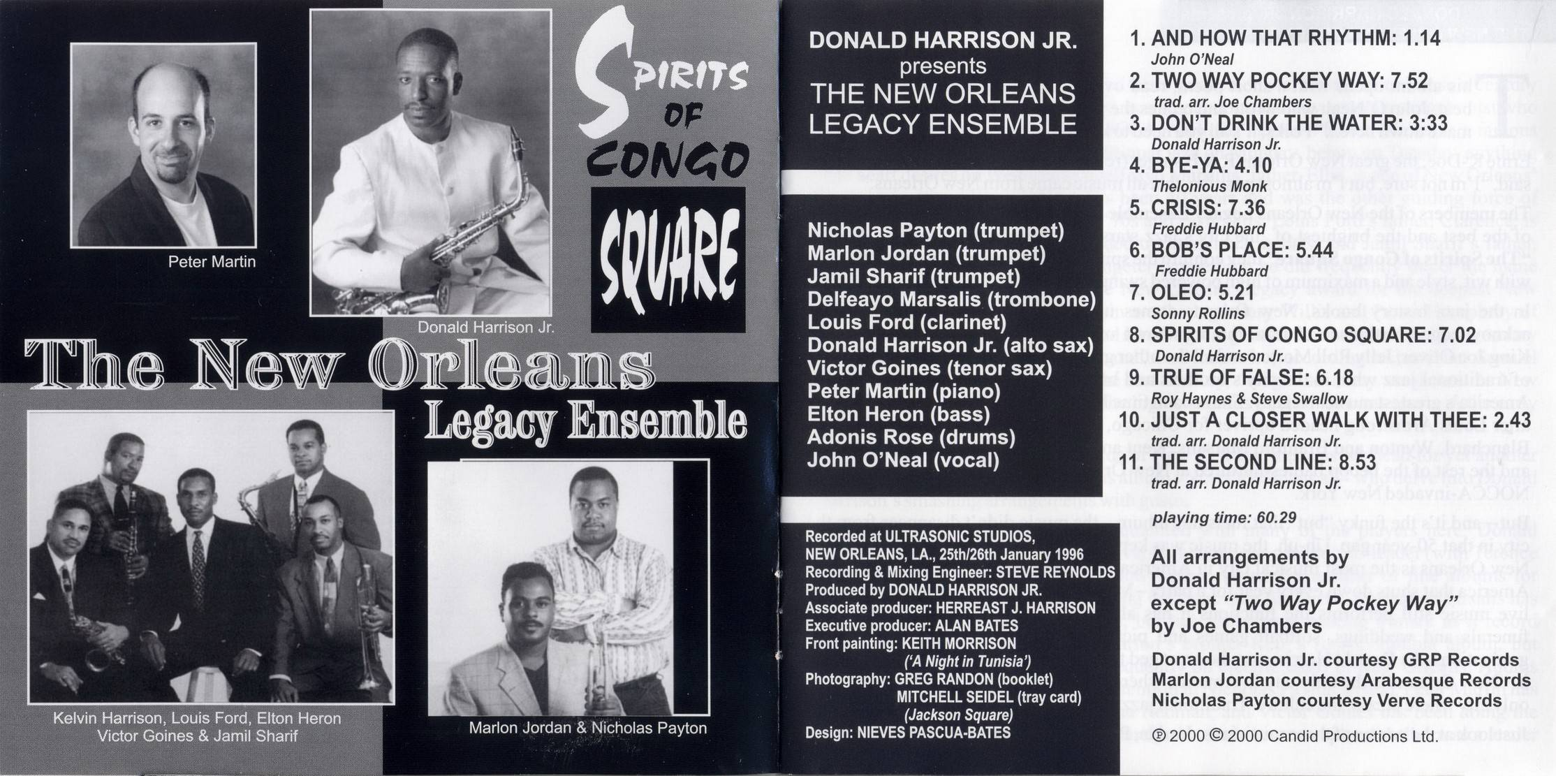 Donald Harrison - Spirits Of Congo Square (2000) {Candid CCD 79759 rec 1996}