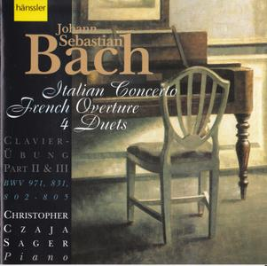 Bach - Italian Concerto, French Overture, 4 Duets - Christopher Czaja Sager (1996) {Hänssler Classic 98.116}