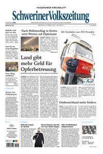 Schweriner Volkszeitung Hagenower Kreisblatt - 16. April 2018
