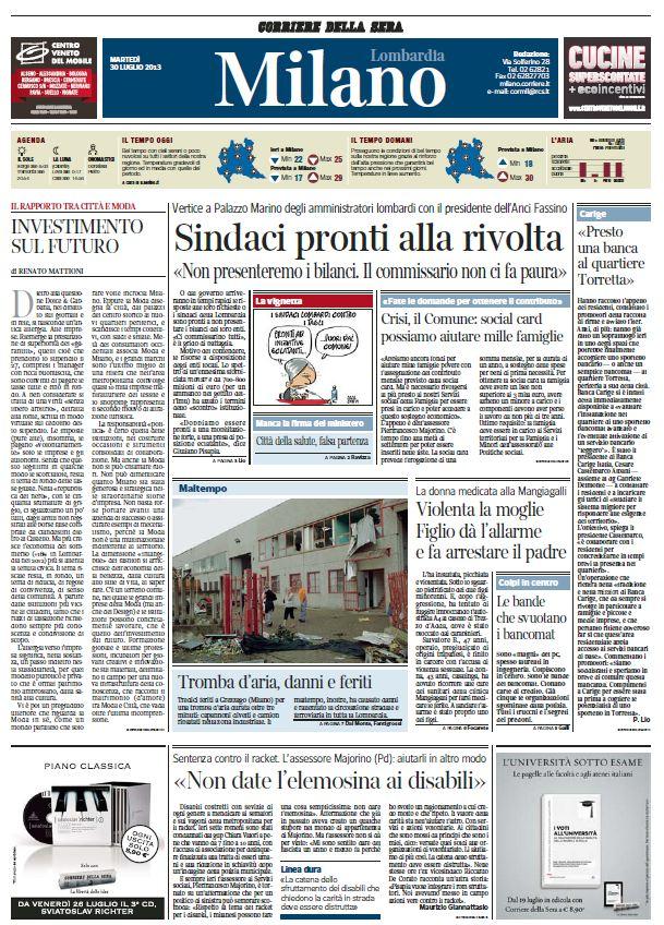 Il Corriere della Sera Ed. MILANO (30-07-13)