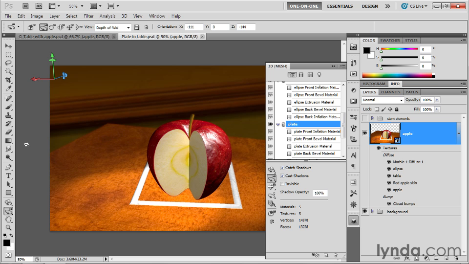 Photoshop CS5 Extended One-on-One: 3D Objects [repost]