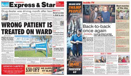 Express and Star Sandwell Edition – September 06, 2017