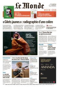 Le Monde du Samedi 17 Novembre 2018