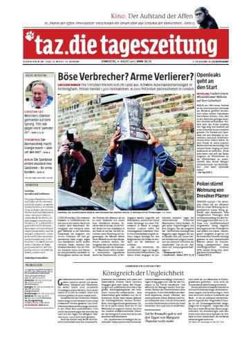 Tageszeitung TAZ vom 11 August 2011