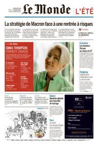 Le Monde du Mardi 20 Août 2019