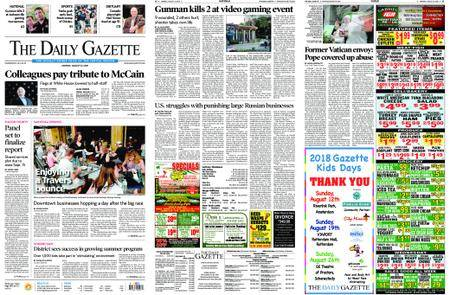 The Daily Gazette – August 27, 2018