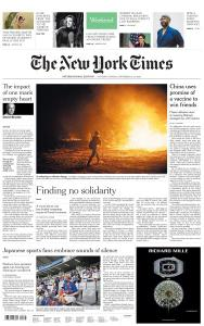 International New York Times - 12-13 September 2020