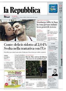 la Repubblica - 13 Dicembre 2018