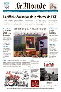 Le Monde du Mercredi 2 Octobre 2019
