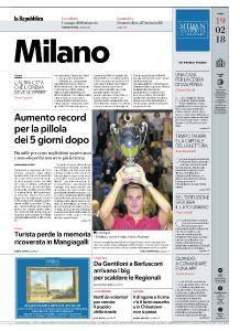 la Repubblica Milano - 19 Febbraio 2018