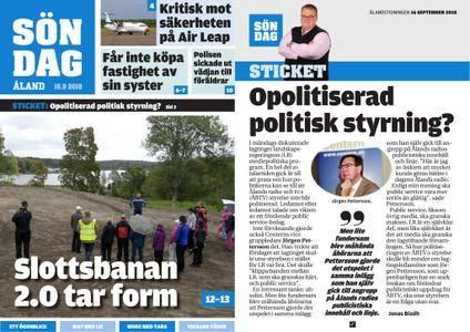 Ålandstidningen – 16 september 2018