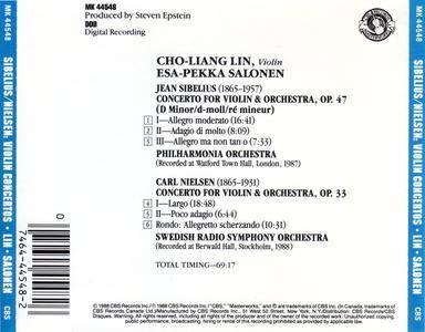 Cho-Liang Lin, Esa-Pekka Salonen - Jean Sibelius, Carl Nielsen: Violin Concertos (1988)