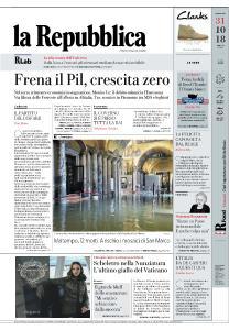 la Repubblica - 31 Ottobre 2018