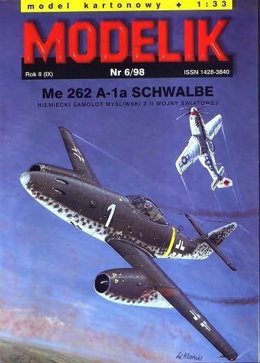 Paper model Modelik 1998.6 - Me-262 A-1A.Schwalbe scale 1:33
