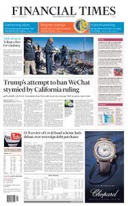Financial Times Europe - September 21, 2020