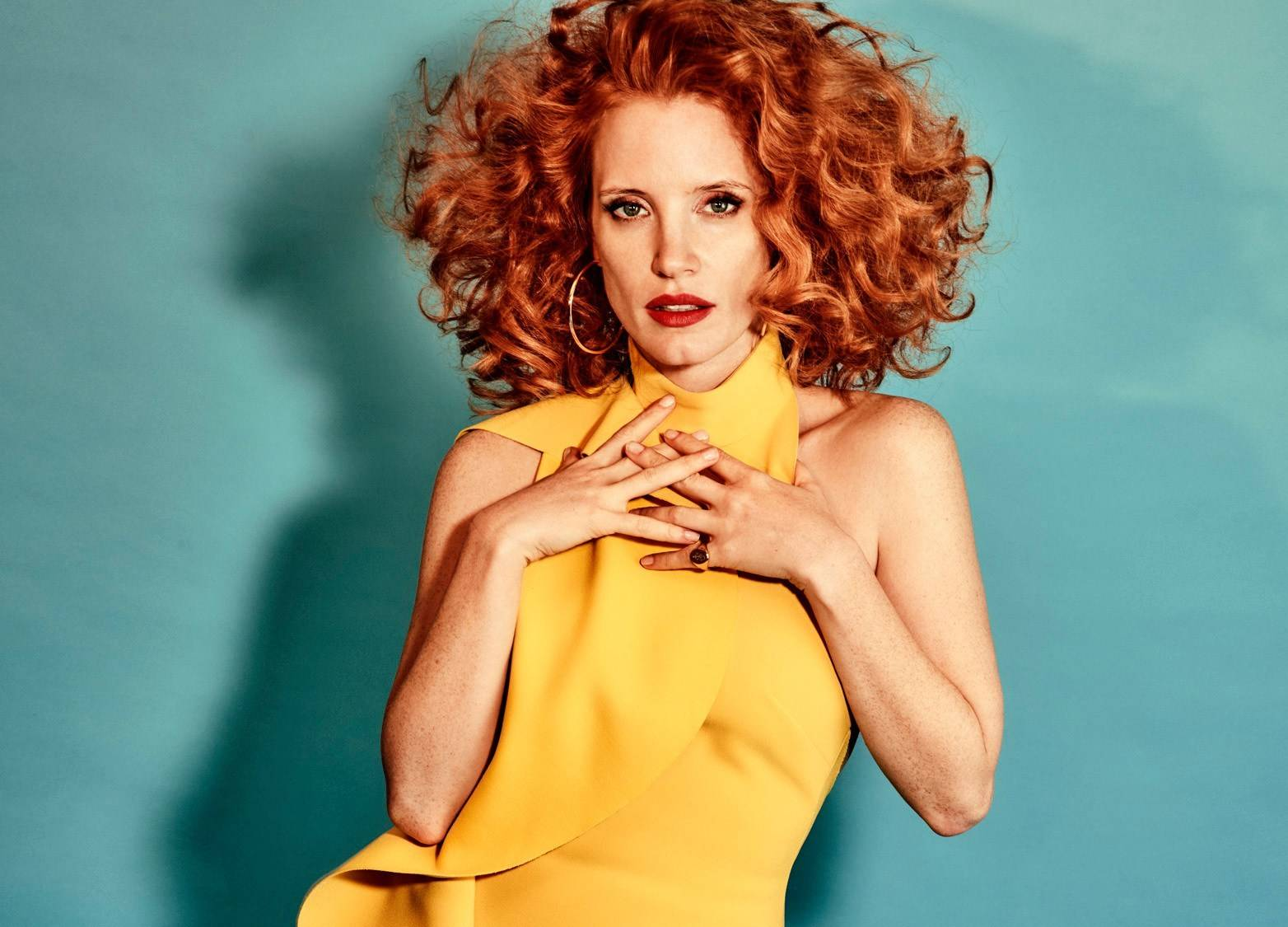 Jessica Chastain by Chris Colls for The Edit December 1, 2016
