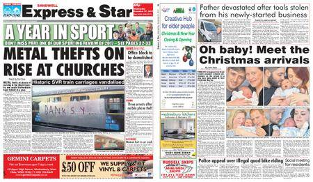 Express and Star Sandwell Edition – December 27, 2017