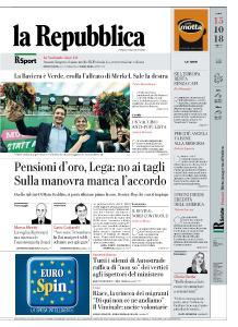 la Repubblica - 15 Ottobre 2018