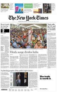 International New York Times - 13-14 April 2019