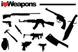 i Love Weapons PhotoShop Shapes