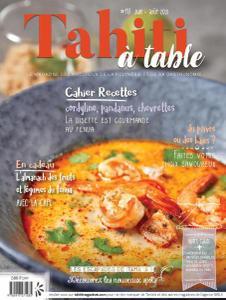 Tahiti à table - Juin-Août 2021
