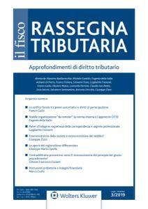 Rassegna Tributaria N.3 - Luglio-Settembre 2019