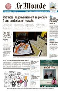 Le Monde du Mercredi 13 Novembre 2019