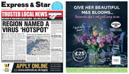 Express and Star City Edition – March 21, 2020