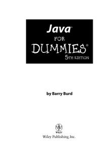 Java® For Dummies®, Fifth Edition