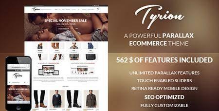 ThemeForest - Tyrion v1.7.2 - Flexible Parallax e-Commerce Theme - 6193222