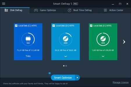 IObit Smart Defrag Pro 5.5.0.1024 Multilingual + Portable