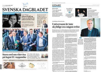 Svenska Dagbladet – 18 november 2017
